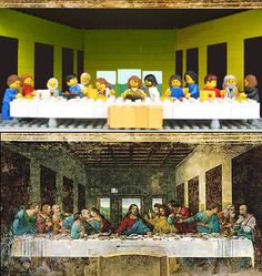 Lego Photo: The Last Supper is a late 15th-century mural painting by Leonardo da Vinci in the refectory of the Convent of Santa Maria delle Grazie, Milan.