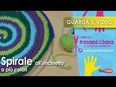 VIDEO Spirale all'uncinetto a più colori con Luisa De Santi - YouTube