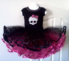 Monster High Inspired Tutu.