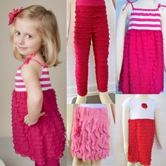 Sew with Ruffle Fabric! Dresses, Skirt, Leggings & more