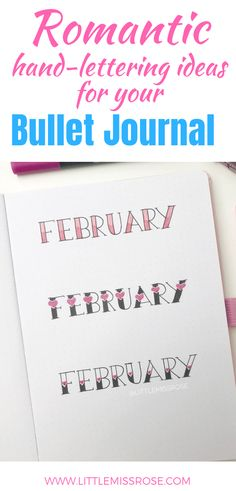 journal ideas for beginners Romantic Hand-lettering Ideas for Your Bullet Journal Have a look at all these beautiful and romantic heading ideas for your bullet journal. There& even a simple hand lettering tutorial to help you along. Making A Bullet Journal, Bullet Journal Layout, Bullet Journal Inspiration, Bullet Journals, Bullet Journal How To Start A Simple, Diy Agenda, Journal Fonts, Journal Pages, Journal Ideas