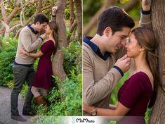 Dallas Arboretum engagement session kissing wedding MnMfoto