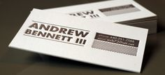 Print and Grain // Andrew Business Cards