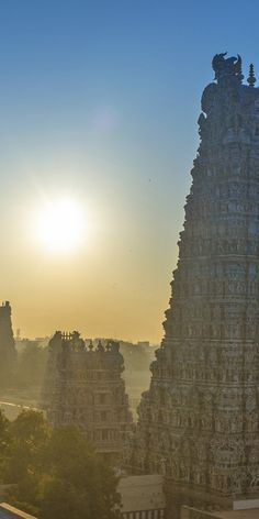 Sunrise over Tamil Nadu, India. Original Travel.