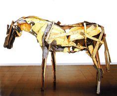 deborah butterfield, new sculptures, L A Louvre gallery 2012