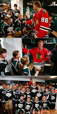 Kane and the St. Jude Knights hang out in their brand new locker room. Not a bad practice day!