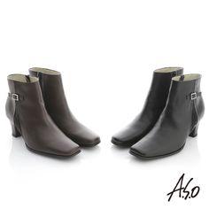 $2990-A.S.O 復古優雅 全真皮側摺邊奈米短靴 咖啡 - Yahoo!奇摩購物中心(咖缺4.5/5/8.5黑缺4.5/8.5/9)