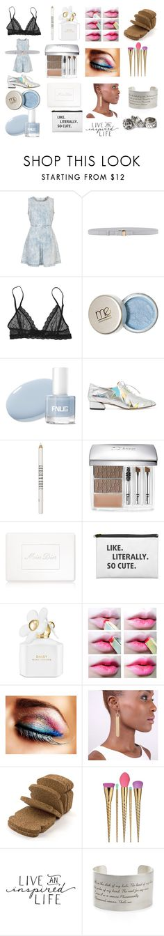 """""""Untitled #336"""" by knmaem ❤ liked on Polyvore featuring Topshop, Salvatore Ferragamo, Eberjey, Charlotte Olympia, Lord & Berry, Christian Dior, Marc Jacobs, SOKO, Home Decorators Collection and tarte"""