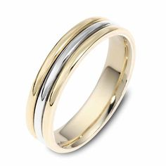 Dualtone Striped Mens Wedding Band