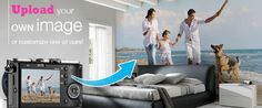 Removable (no glue) wall mural - nice thing is, you can use your own images! NICE!!