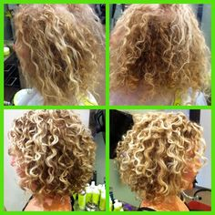 Top: with sulfate shampoos Bottom: without sulfate shampoo Devachan Salon Short Permed Hair, Curly Hair Cuts, Curly Hair Styles, Medium Permed Hairstyles, Frizzy Wavy Hair, Air Dry Hair, Curly Girl, Hair Dos, Textured Hair