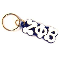 Zeta Phi Beta Sorority Bubble Letter Keychain $4.99 #ZetaPhiBeta #Greek #sorority #Zeta #accessories #accessory #keychain #bubble