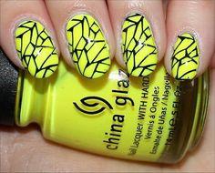 cool yellow nails