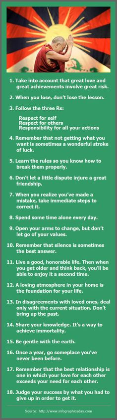 Dalai Lama: 18 Rules of Living