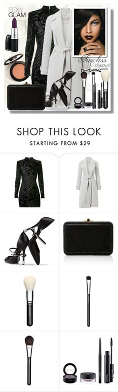 """Timeless elegance"" by carleen1978 ❤ liked on Polyvore featuring beauty, Balmain, Miss Selfridge, Roger Vivier, Judith Leiber and MAC Cosmetics"