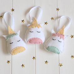 Make your own unicorn decorations with our Unicorn Sewing Kit.  This kit contains everything you need (except a cup of tea and a pair of scissors) to sew your own set of 3 cute unicorn decorations including easy to follow instructions suitable for sewists of all levels whether this is