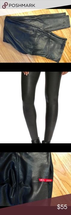 856dd058864a61 Spanx leather leggings NWOT Never worn Spanx faux leather leggings. Perfect  condition! SPANX Pants