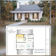 Modern Tiny House, Small House Plans, Small Floor Plans, Small Farmhouse Plans, Building A Small House, Home Building Plans, Best Tiny House, Home Design Floor Plans, Small House Design