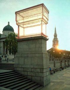 Rachel Whiteread - Monument - 2001 -Trafalgar Square, London, UK, until May 2002. (450 x 510 x 250 mm)