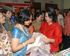 Iriana Jokowi   with Neeru Singh