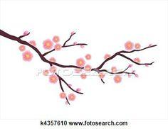 Cherry blossom View Large Illustration