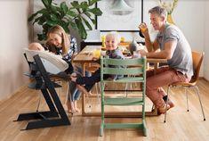 Stokke - Chaise haute Tripp Trapp Vert mousse #mobilier #mobilierdesign #chaise #tripptrapp #vert #design
