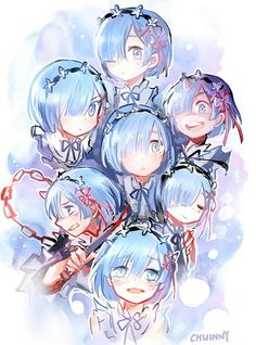 Anime, Art, Аниме, Рем, Rem, Re:Zero kara Hajimeru Isekai Seikatsu