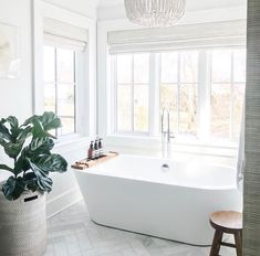It finally feels like spring out there today! ☀️ My plans include taking the training wheels off of our big boy's bike, enjoying lots of… White Bathroom, Small Bathroom, Master Bathroom, Uo Home, Bathroom Goals, Dream Rooms, Beautiful Bathrooms, Clawfoot Bathtub, Bathroom Inspiration