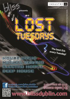 2012.10 Lost Tuesdays Poster Minimal Techno, House Music, Lost, Posters, Image, Postres, Banners, Billboard, Poster