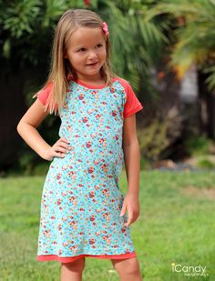 I promised Emily that I would make her some cute dresses that she could wear to school.  I was browsing some of my favorite shops for ins...