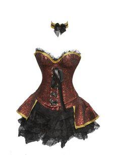 SJ-127 - Ensemble Renaissance en Rouge: Amazon.fr: Vêtements et accessoires