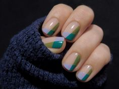 Geometric nails never looked so good.