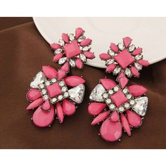 No.:A36210 Цвет: Розовый Размер: 70*35 мм Материал: Сплав, поддельные камни Вес: 40,3 г