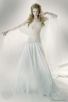 Marina Mansanta Wedding Dresses — Ninfe Bridal Collection   Wedding Inspirasi