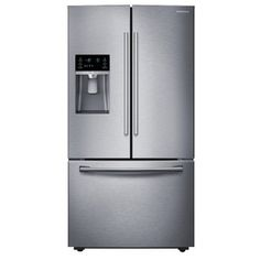 Samsung 22.5-cu ft Counter-Depth French Door Refrigerator with Dual Ice Maker (Stainless) ENERGY STAR