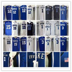 5edae26b0f3 NEW Duke Blue Devils Duke Blue Devils 12 Justise Winslow White Basketball  New Stitched NCAA Jersey Duke Blue Devils 18 Duke Blue Devils 5 Tyus Jones  ...