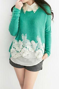 madeira de renovar um pulover...adoro a cor deste