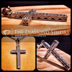 This is a special piece I designed for a family who has been supporting my business for many years. With intricate, vintage detailing, this cross will be something the family can cherish and hand down for generations to come. This is what I do. #diamonds #cross #necklace #pendant #jewellery #jewelry #thediamondstudio