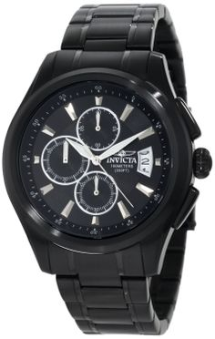 Invicta Men's 1486 Specialty Collection Chronograph Black Dial Black Ion-Plated Stainless Steel Watch