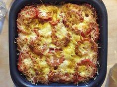 moutarde, thon, mozzarella, tomate, crème liquide, carvi