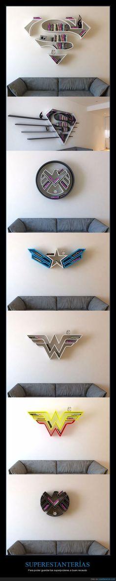 Estanterías de superhéroes del artista Burak Doğan