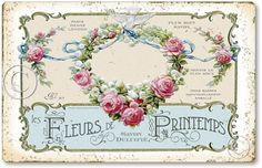 In the piggy bank decoupage prints templates of Victorian flowers .. Discussion on LiveInternet - Russian Online Diaries Service