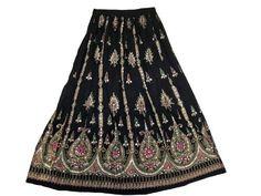 "Ethnic Skirt Bohemian Beaded Black Belly Dance Lehenga Floral Sequin Gypsy Skirt 37"" mogul interior,http://www.amazon.com/dp/B00BIZXHNS/ref=cm_sw_r_pi_dp_bU9jrb096CDT63W9"