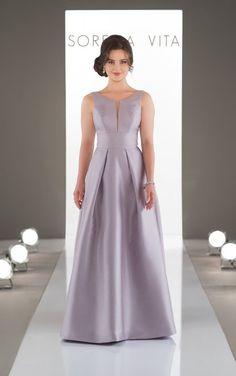 9130 Clic And Simple Bridesmaid Dress By Sorella Vita High Neck Dresses