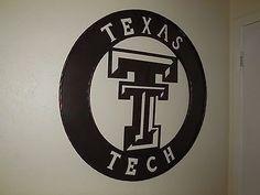 "36"" TEXAS TECH DECOR METAL ART WESTERN HOME WALL DECOR NEW BRONZE LARGE SIZE"