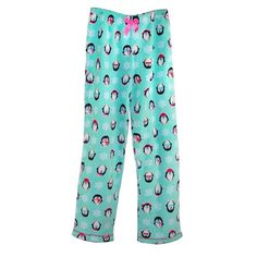 This plush sleep pants will keep her warm and cozy. The covered elastic waistband will not bind or pinch and features a bow accent. These quality sleep pants are made of fire resistant fabric for safety. These plush pants are great for lounging around the house, sleeping and anytime she wants cozy comfort.