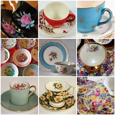 Teacup Lane: Mosaic Monday - Teacups From Flickr