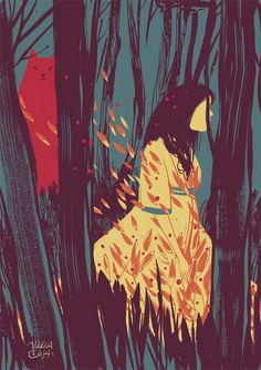 Julia Cejas • Illustration • Deep down in the woods