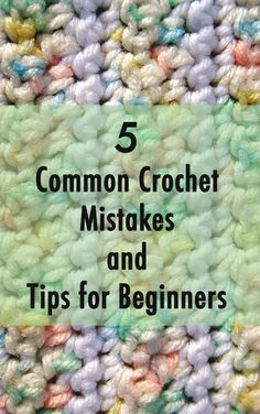 This article will go over the most common crochet mistakes made by beginners. #crochet