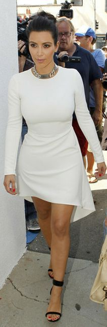 Kim Kardashian:    Dress – Nha Khanh    Shoes and jewelry – Celine